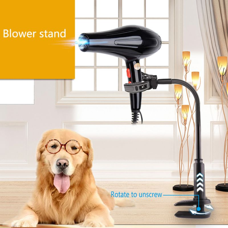 Rotatable Pet Hair Dryer Bracket Dog Cat Grooming Support Frame Pets Clothes Beauty Table Holder