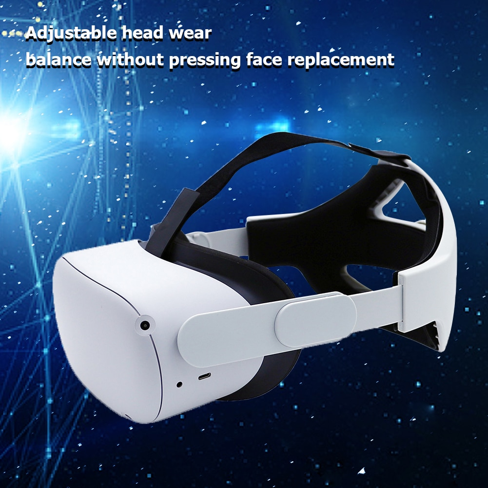Adjustable Halo Strap For Oculus Quest 2 VR Elite Strap Comfort Improve Supporting Forcesupport Reality Access Increase Virtual enlarge