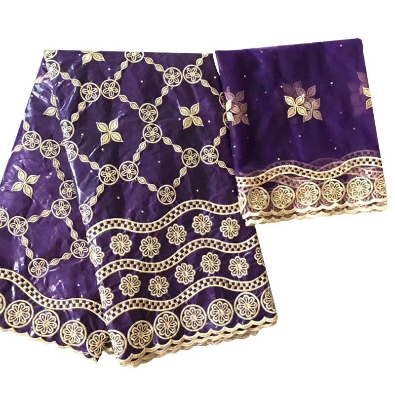 Новый Африканский воск ткань Базен riche getzner ткань Африканский tissu хлопок вышитые с тюлем кружевной комплект нигерийский кружевной ткани F-6