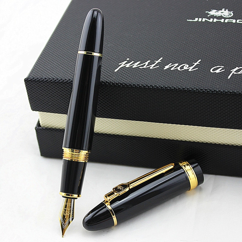 high quality Jinhao 159 Fountain Pen Luxury metal Pen Big Size Unique Style Medium 0.5 Nib Heavy Business Office Gift ink Pen high quality jinhao metal snake fountain pen luxury calligraphy ink pen iraurita cobra 3d pattern gift 0 5 nib office supplies
