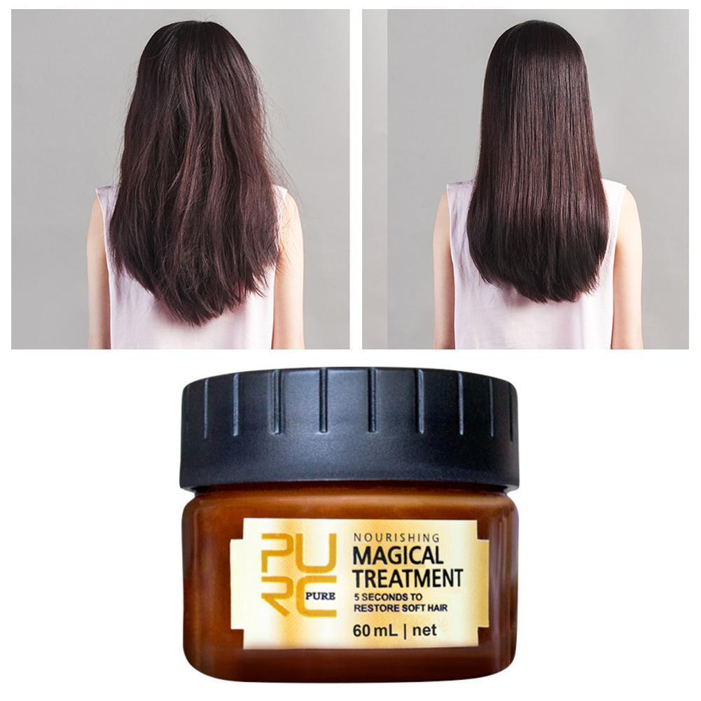 Mascarilla de tratamiento para el cabello, mascarilla de queratina para el cabello,...