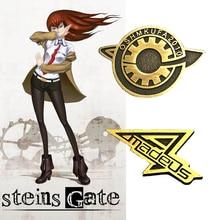 Steins Gate makise kurisu LabMem Costumes Badge Okabe Rintarou Cosplay Pin The Fate of The Stone Door Cosplay Accessories
