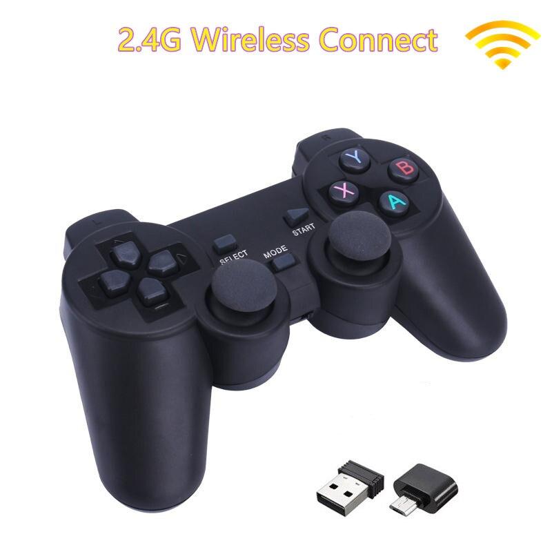 Controlador de juego inalámbrico 2,4G para controlador de juegos Android/PC/PS3/caja de TV y para control remoto de juego para teléfono inteligente
