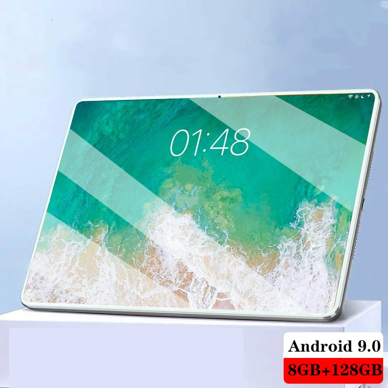 2021 جديد ترقية الكمبيوتر اللوحي على الانترنت فئة 6GB RAM 128GB ROM المزدوج سيم بطاقة 10.1 بوصة ثماني النواة Andoid كمبيوتر لوحي مزود بخدمة الواي فاي