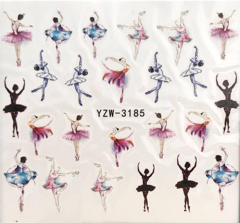 YZWLE 1 Sheet Nail Art Water Decal Dancer/ballet Nail Sliders Decor Tips Nail Pattern Sticker For Nail Beauty Care