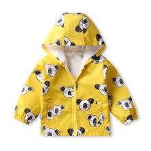 Vestes à capuche pour enfants, manteau imprimé pour bébés, vêtement imperméable, printemps-automne, coupe-vent à capuche