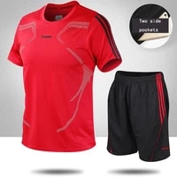 football jerseys for men soccer jersey tracksuit short sleeve football training suit summer t shirt shorts sports 2 piece set