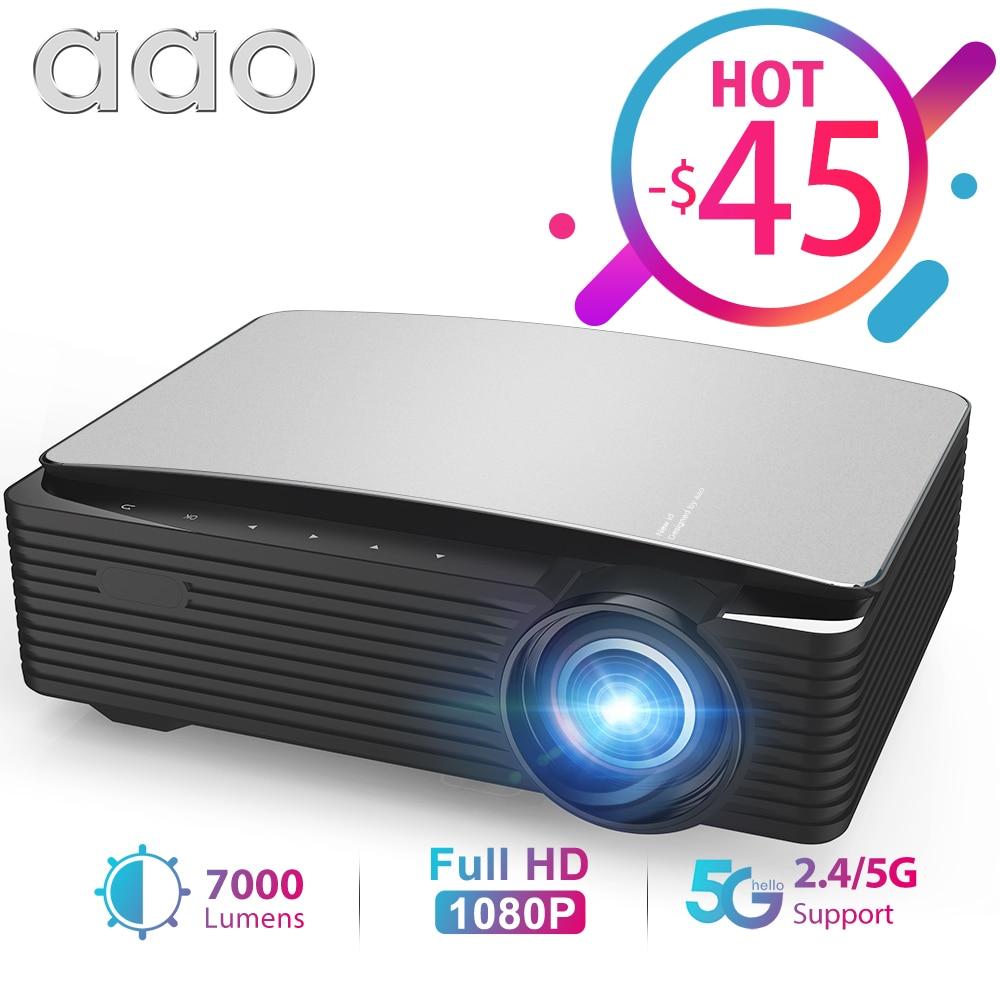 AAO YG650 Новый Full HD Светодиотный проеткор разрешение с матрицей 1920х1080р 2.5/5 ГГЦ Wi-Fi Андроид Система Смартный проеткор 3D Домашний Кинотеатр