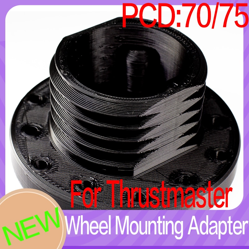Adaptador de volante t300 t500 tgt simracing pcd 70 ou 75 simracing