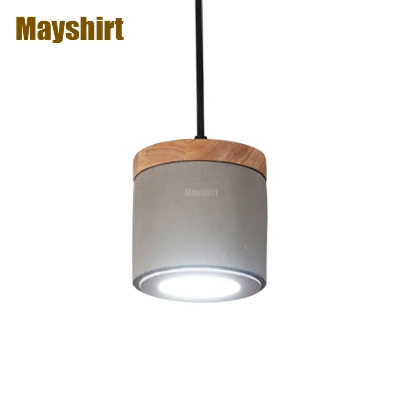 Lámparas colgantes de madera de cemento de estilo nórdico, lámpara colgante para Bar, lámpara colgante para sala de estar, cocina, accesorios de iluminación para interiores, decoración del hogar