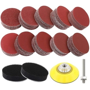180pcs Sanding Discs Pad Kit for Drill Sander, Drill Sanding Attachment Sandpapers with Backer Plate 1/4 Inch