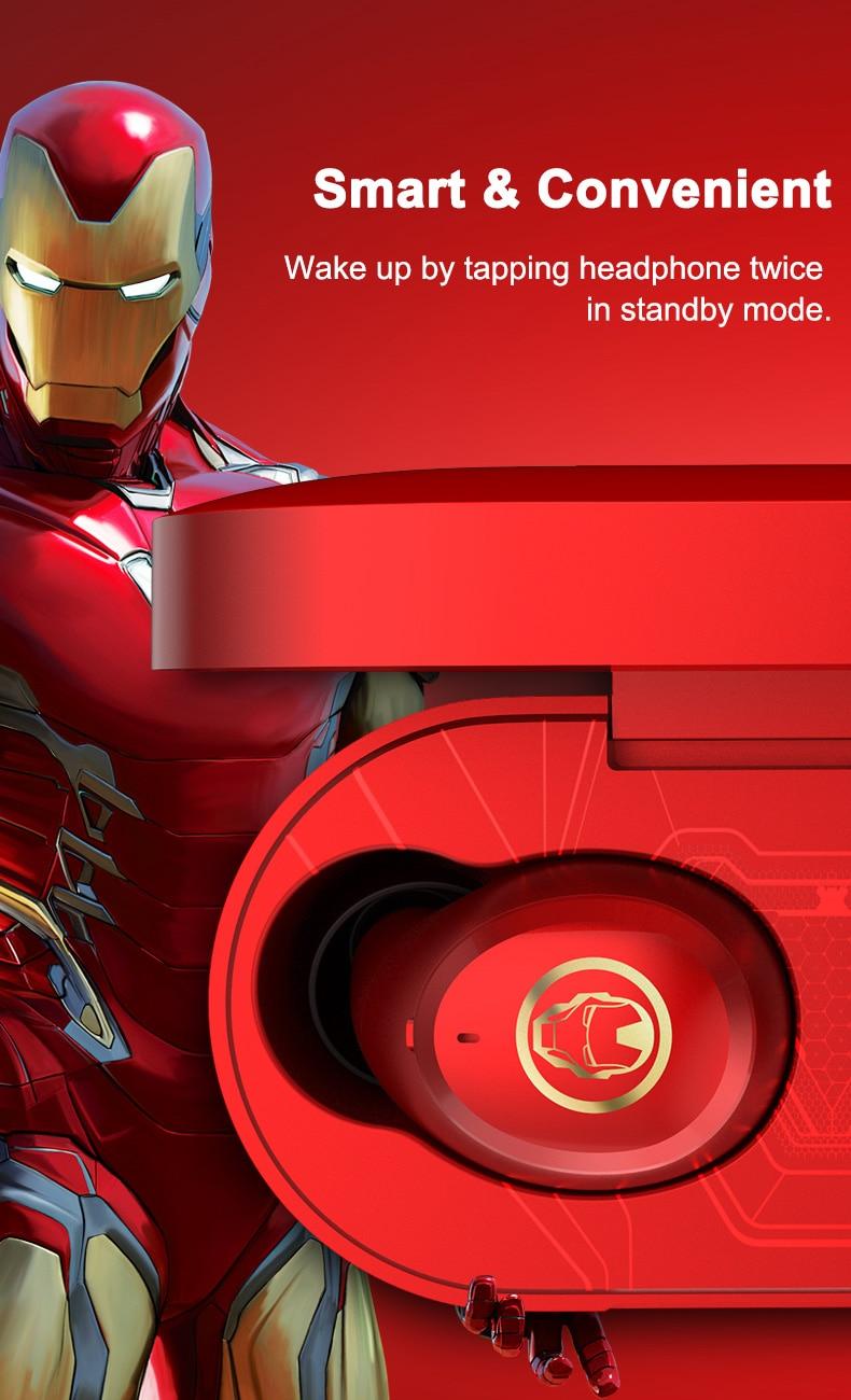 2021 Disney certified iron man for huawei iPhone all TWS wireless Bluetooth  headphones enlarge