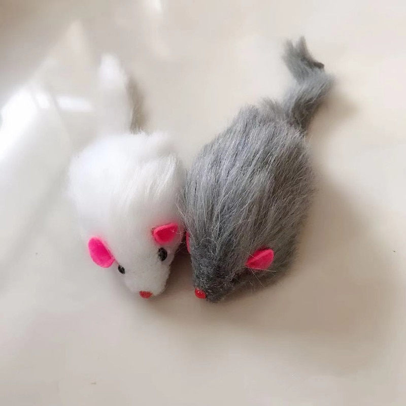 2021 Hot Sale New False Mouse Cat Pet Toys Cat Long-haired Tail Mice With Sound Rattling Soft Real R