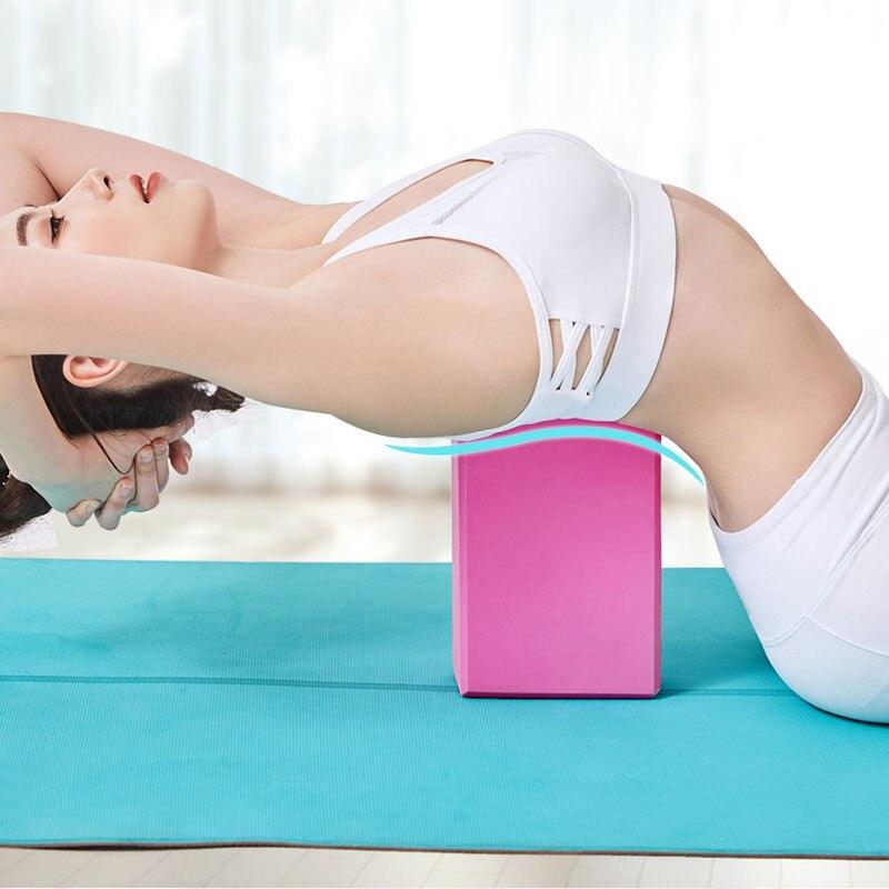 Ferramenta de Fitness Treinamento para Ginásio Pilates Exercício Alongamento Corpo Moldar Eva Yoga Bloco Colorido Espuma Blocos