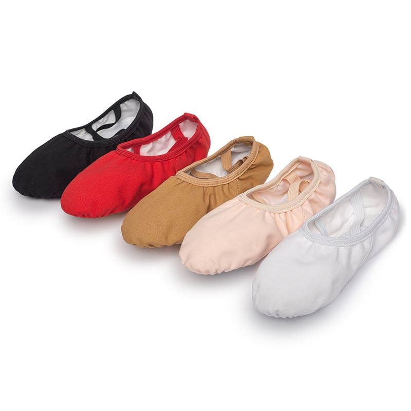 USHINE professional quality Children dance slippers canvas soft Sole belly yoga gym ballet shoes gir