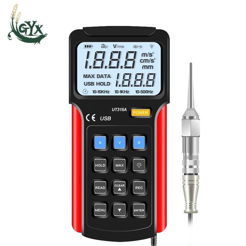 اختبار الاهتزاز الرقمي UT315A الاهتزاز تسارع النزوح معدات قياس التحقيق جهاز تحليل هزاز USB