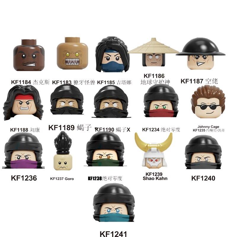 Bloques de construcción de Mortal Kombat, figuras de escorpión Sub-Zero de John Cage, Goro, Raiden, Baraka, juguetes de regalo para niños KF6102