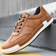 Мужские кожаные кроссовки на шнуровке, на плоской подошве, для вождения, большие размеры 38-48