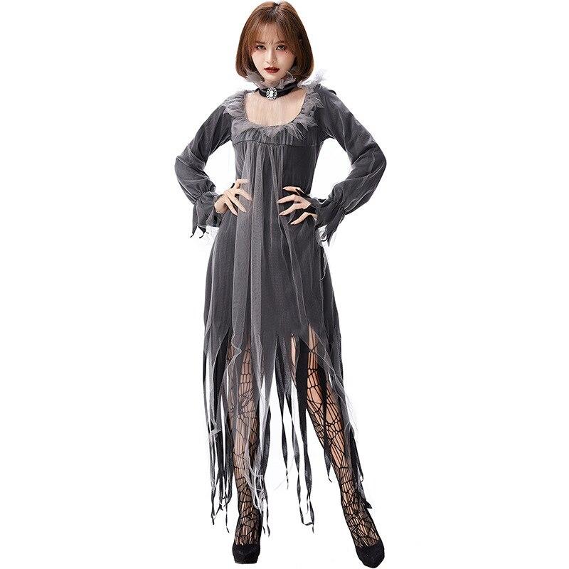 Disfraz de novia fantasma aterrador Bosque Oscuro elfo mágico disfraz de Halloween para mujeres