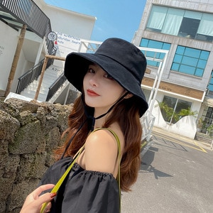 Summer Sunshade Fisherman's Hat Traveling Outdoor Windproof Student Hat For Girls