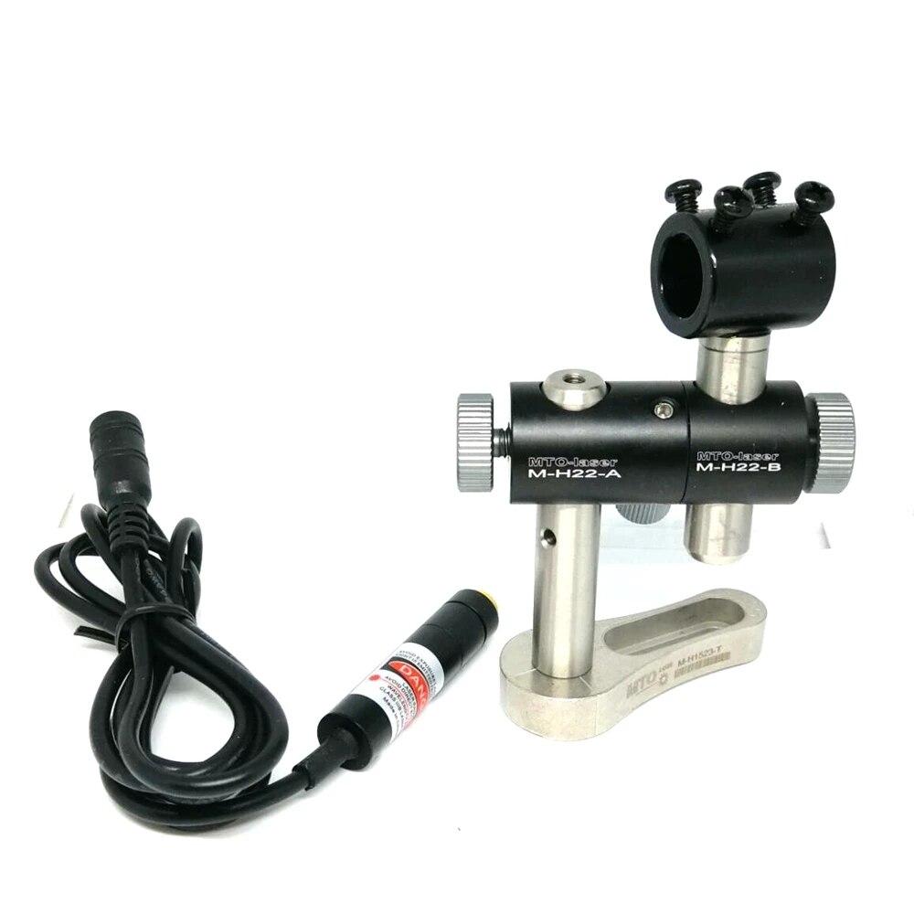 Фокусируемый 650 нм 80 мВт красный лазер крест модуль шитье печать машина выравнивание ш 5 В питание адаптер +% 26 3 оси держатель зажим 1255