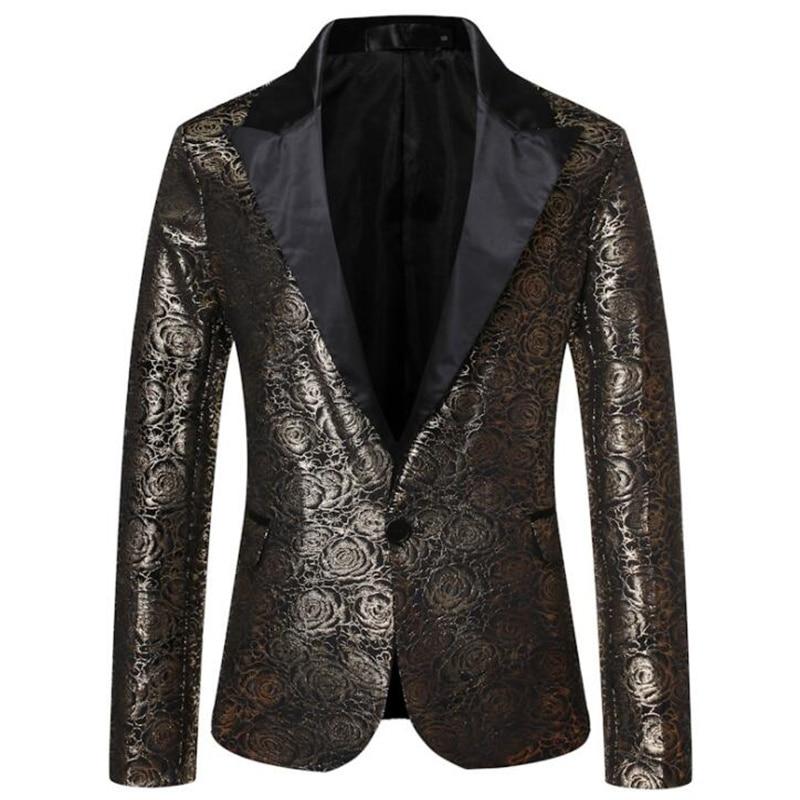 Traje de bronce de pana para hombre, chaqueta rosa para boda, escenario,...
