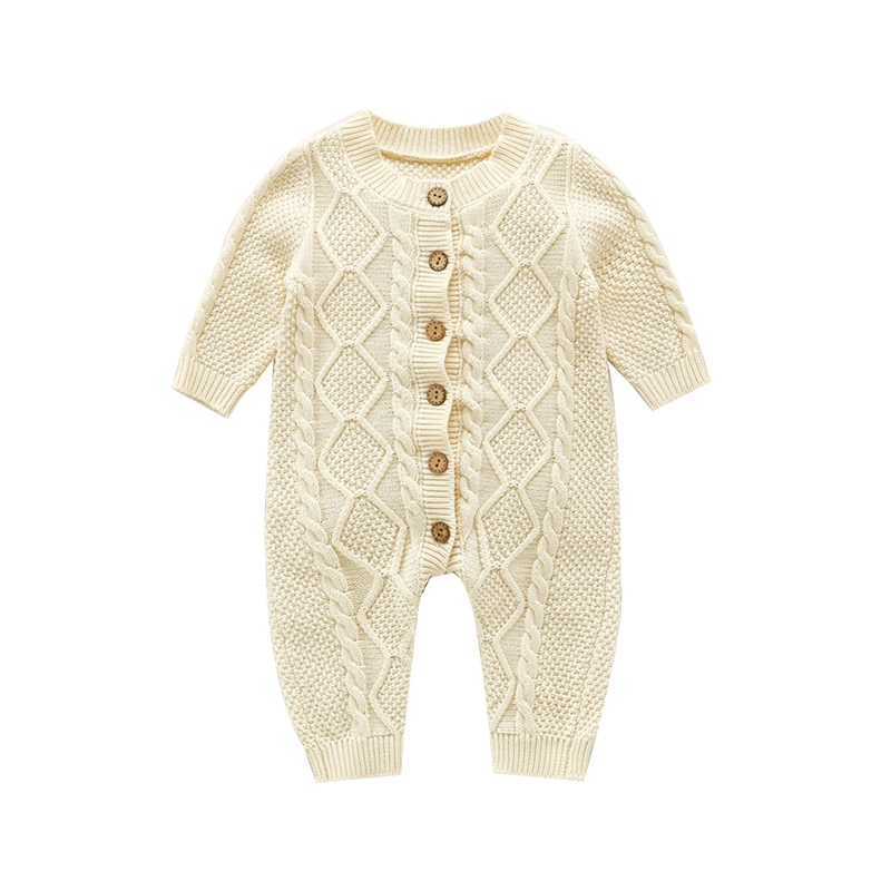 0-24M Newborn Baby Sweater Autumn Winter Clothes Baby Long Sleeve Knitting Rompers Jumpsuit Casual B
