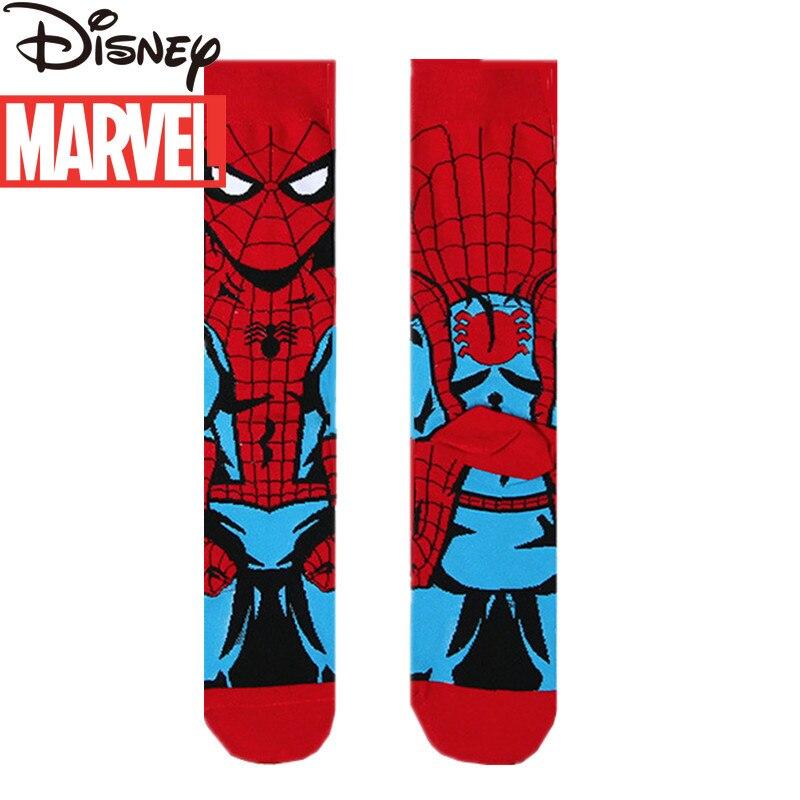 Marvel Spiderman Tide Socks Avengers Men's Socks Groomsmen Socks Deadpool Iron Man Long Socks Long Boys
