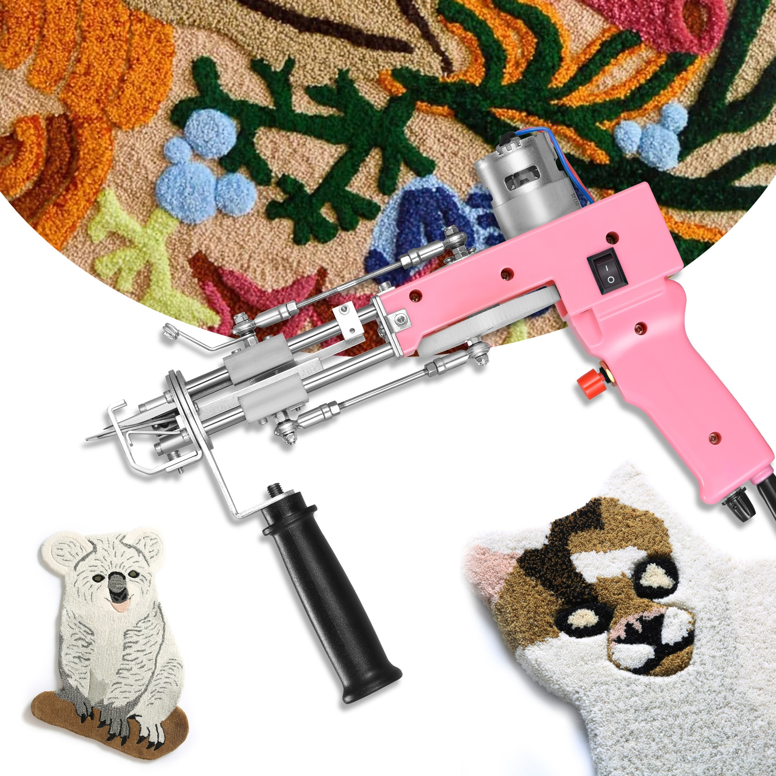 Cut Pile And Loop Pile 2 In 1 Tufting Gun Electric Carpet Rug Guns Carpet Weaving Knitting Machine DIY Carpet Supplies Cut/Loop enlarge