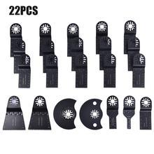 22 pièces lames de scie oscillantes outils de réparation multifonctions pour bois métal plastique