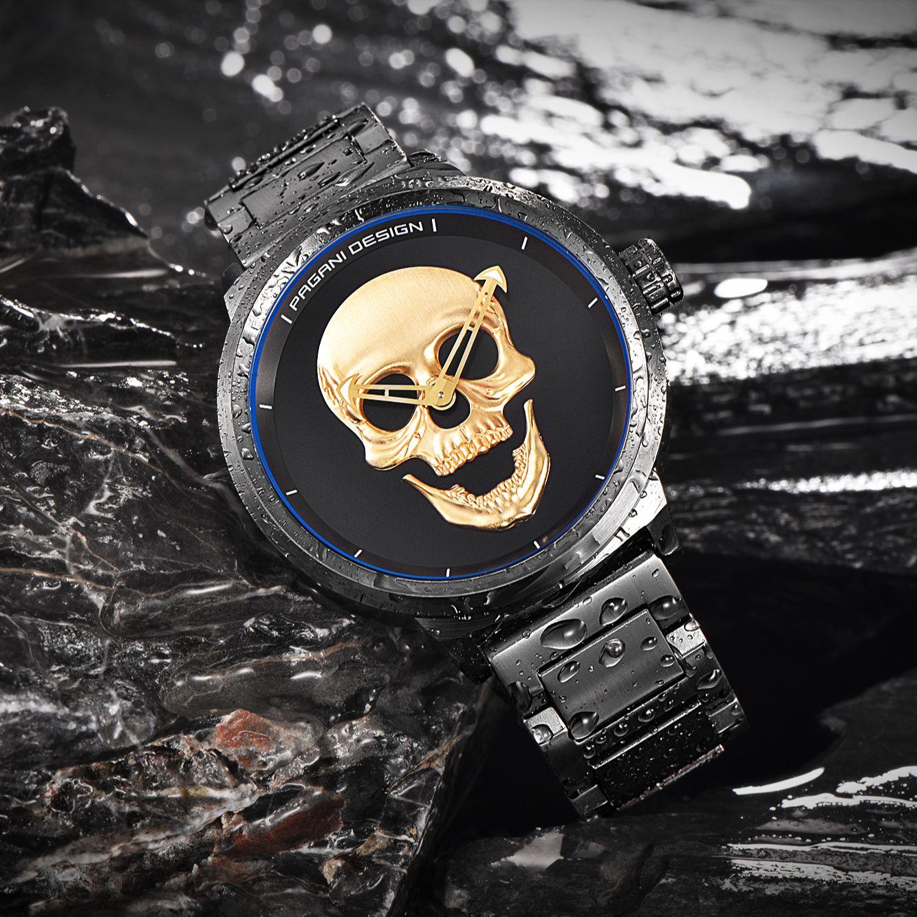 2021 Pagani Design Top Brand 3D Skeleton Personality Retro Fashion Watch Men's Luxury Large Dial Design Waterproof Quartz Watch enlarge