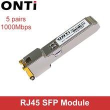 Módulo SFP ONTi RJ45 interruptor gbic 10/100/1000 conector SFP cobre módulo RJ45 SFP puerto Gigabit Ethernet