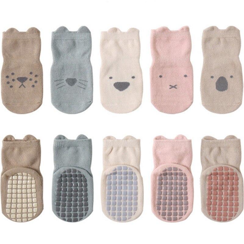 Новинка 2021, осенне-зимние детские носки 5 парт/Лот, мягкие хлопковые нескользящие носки для новорожденных, носки для мальчиков и девочек