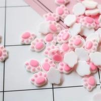 20pcs cute bear paw flat back resin cabochon kawaii flatback resins of characters cabochons for bows hair deco parts 1214mm