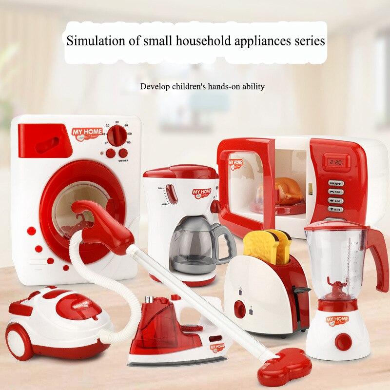 Детский игровой домик, маленькая бытовая техника, стиральная машина, Электрический миксер, игрушка для хлебопечки