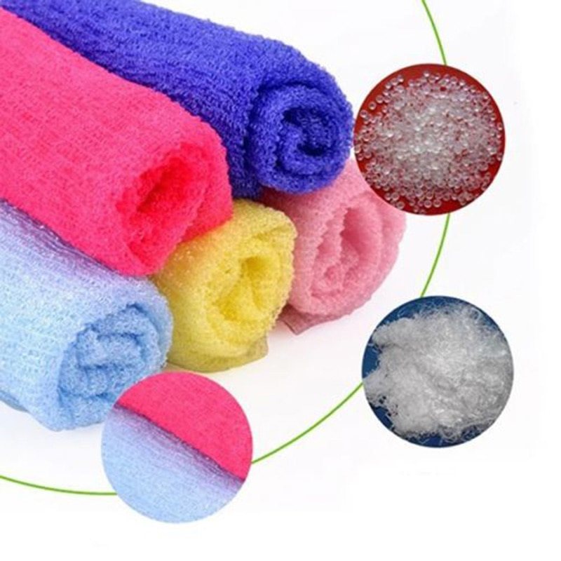 Нейлоновая ткань для мытья банное полотенце для красоты тела отшелушивающий душ ванная стирка 30x90 см щётка для душа