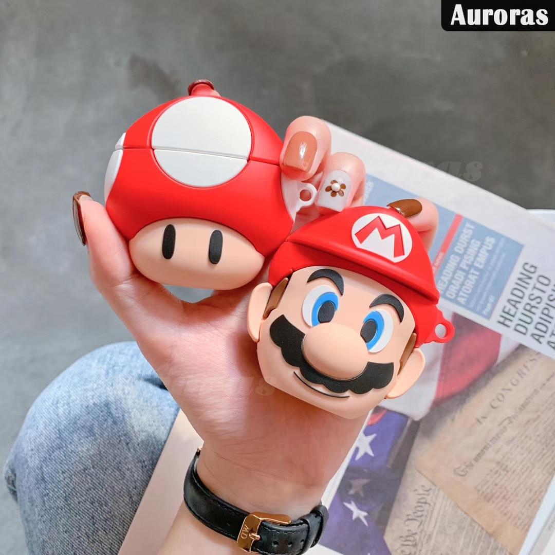 Auroras para Huawei FreeBuds 3 funda Super Mario seta diseño cubierta completa auriculares accesorios Protector para Freebuds 3 funda