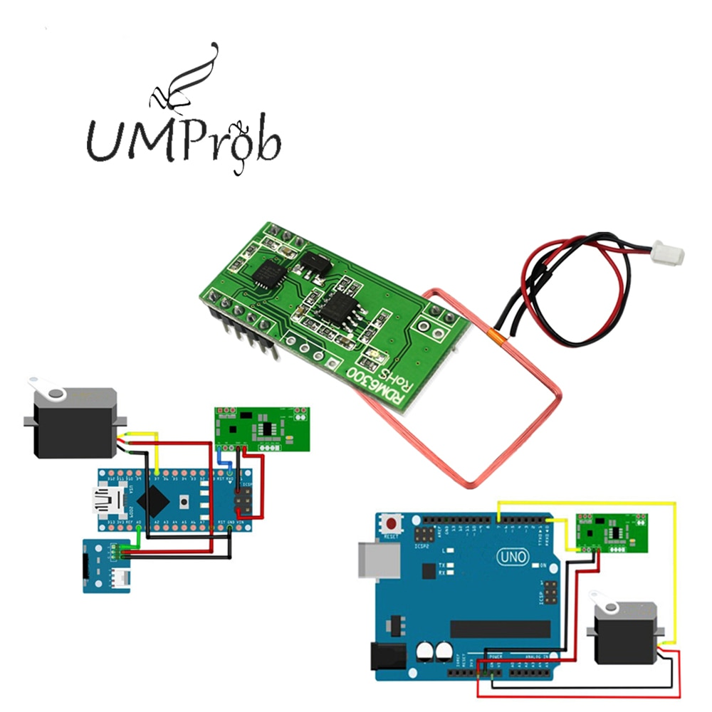 RDM6300 125 кГц EM4100 RFID считыватель Модуль UART Выход Система контроля доступа для arduino