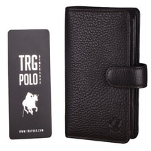 TRG POLO 13641 BROWN UNISEX WALLET GENUINE LEATHER