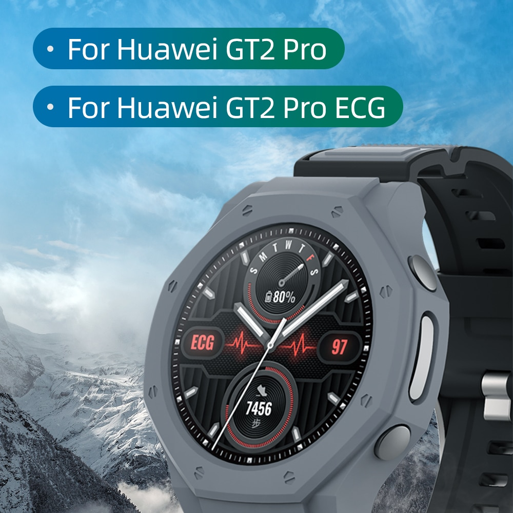 Newest Cover for huawei watch gt2 pro case Smart Watches Cover TPU Shell  Protector SIKAI Sport Accessories for GT 2 Pro ECG