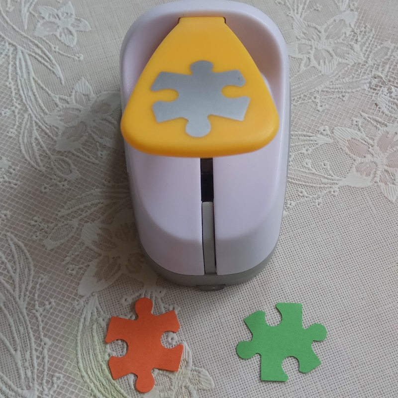 Rompecabezas de 25mm, papel de ahorro de energía, espuma eva, perforadora artesanal, perforadora hecha a mano, perforadora de animal DIY