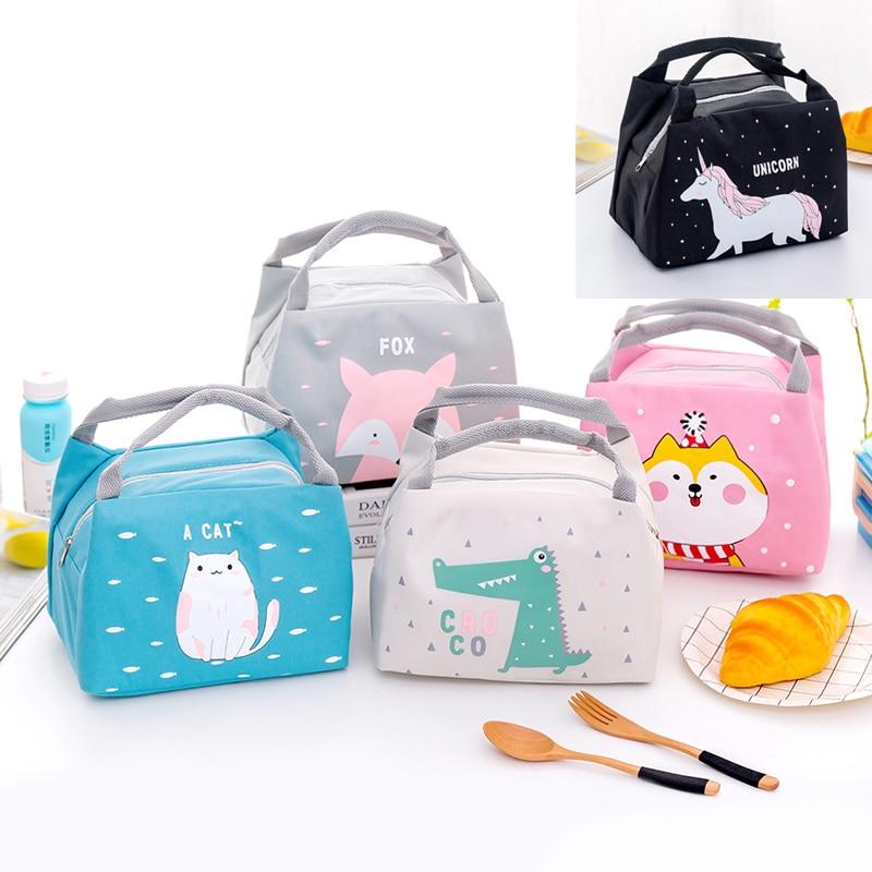 Теплоизоляционная сумка для хранения детских пищевых продуктов, бутылочки для молока, теплоизоляционные сумки, водонепроницаемая оксфордская сумка для ланча, сумка для еды для младенцев и детей, сумка для еды с изображением лисы