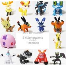 Pokemon Froakie Greninja Noivern Fennekin Y Beartic экшн-фигурка Froakie Collections Yveltal модель игрушки подарки Tepig модель игрушки