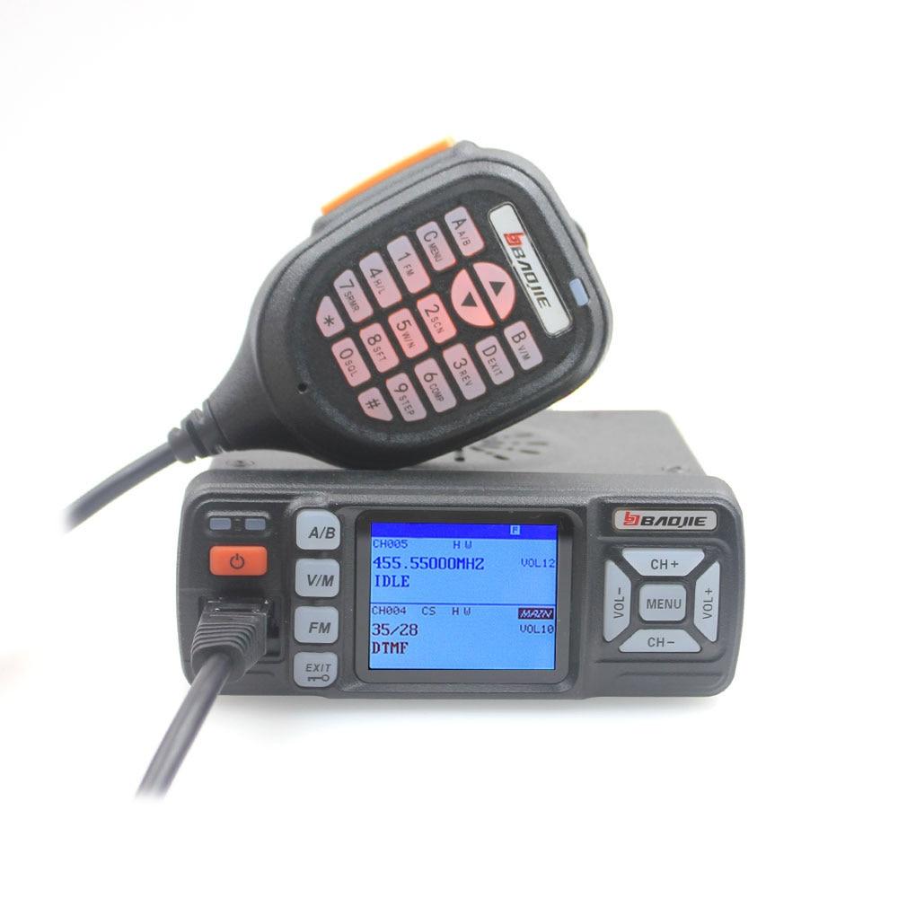 Walkie Talkie BJ-318 25W Dual Band 136-174&400-490MHz Car FM Radio BJ318 (upgrade version of BJ-218)