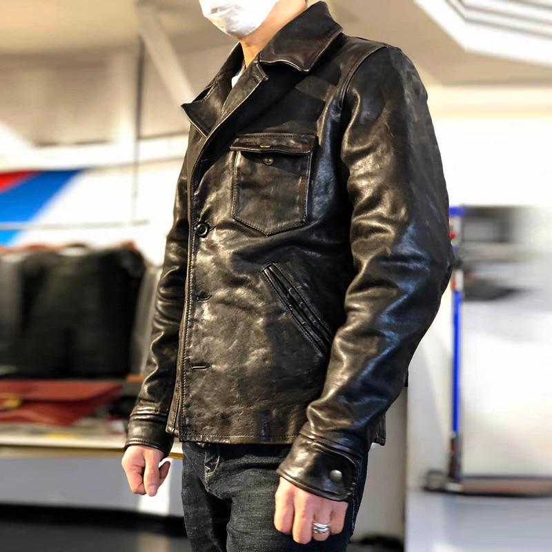 XX RockCanRoll Read Description! Asian Size Super Top Quality Genuine Horse Leather Coat Classic Horsehide Stylish Rider Jacket