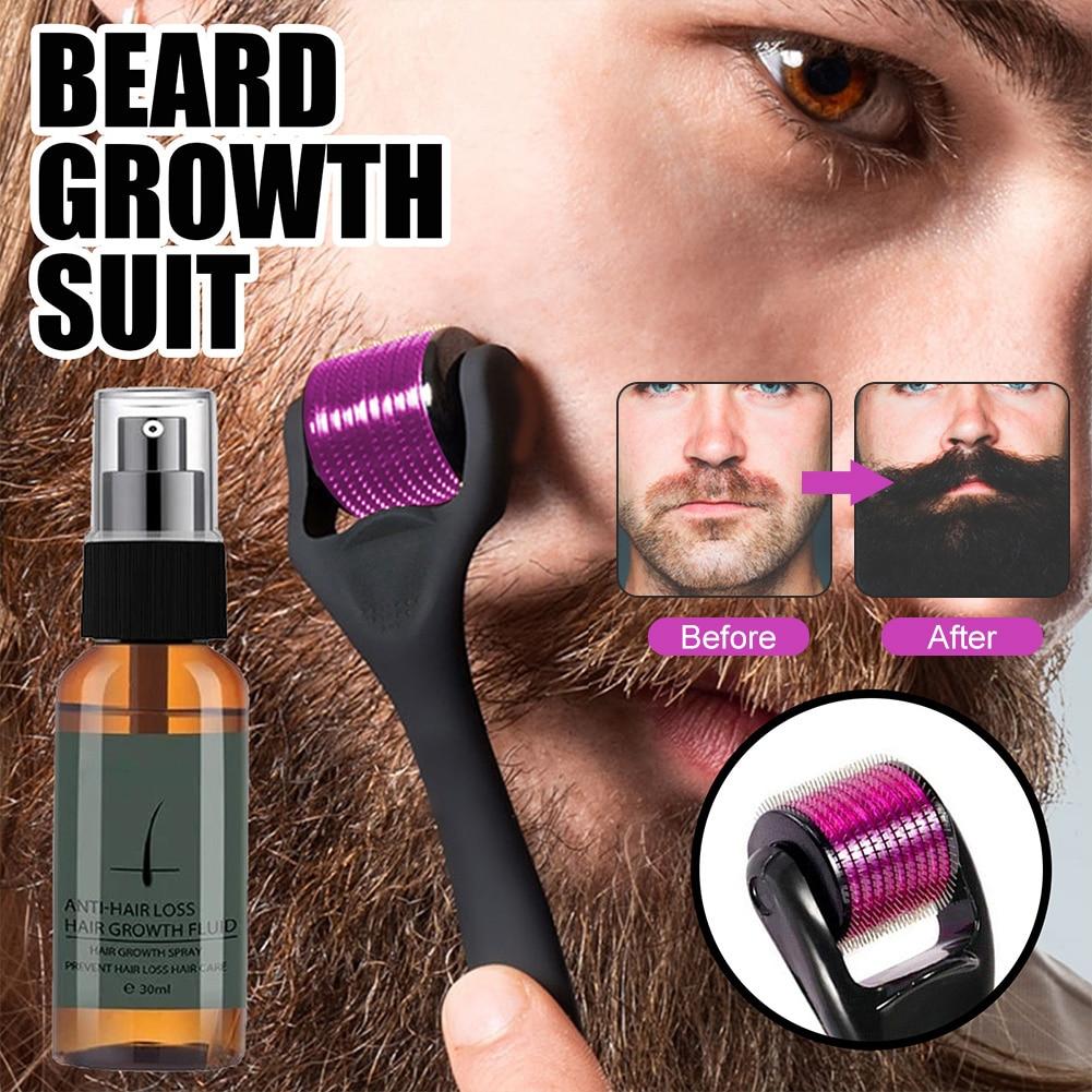 Beard Growth Kit Natural Beard Growth Serum Promote Beard Regrowth Full Thick for Men