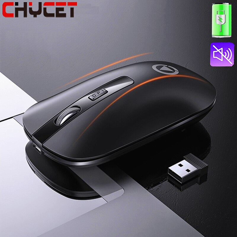CHYCET 2021 Wireless Gaming Mouse Rechargeable Computer Mouse Wireless 1600 DPI Optical Silent Mouse