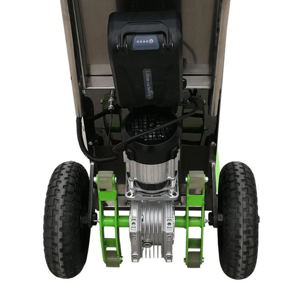 48V 16A 250KG Electric Stair Climbing Car Moving Pulling Goods Handling Trucks Heavy up And Down Stairs Cart Stair Truck 16A enlarge