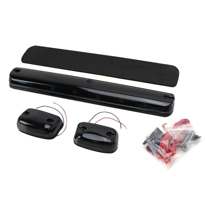 Rotulador LED para techo de cabina, totalmente de color ámbar, ensamblaje ligero para Chevy GMC 2500HD 3500HD 07-Up, 3 unidades