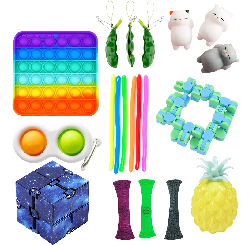 Fidget Sensory Toy Set Anti stress Relief Toys Box pack Squishy Autism Anxiety Relief Push Bubble Toy Pack For Kids Adult enlarge